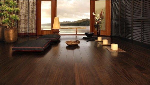 Sàn gỗ sạch dễ vệ sinh